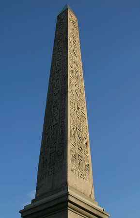 Obelisk.  I erroneously supposed that the French stole from Egypt, however someone has since corrected me and told me it was a gift.
